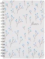 Скицник за рисуване - Цветя - Формат В5 - продукт