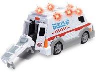 Линейка с отваряща се врата и носилка - Детска играчка със звуков и светлинен ефект - творчески комплект