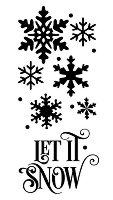 Шаблон - Let It Snow - Размери 12 х 25 cm