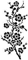 Шаблон - Клонче с цветя - Размери 12 х 25 cm