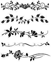 Шаблон - Декоративни фризове - Размери 20 х 25 cm