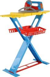Детска дъска за гладене с ютия и закачалка - Комплект за игра - играчка