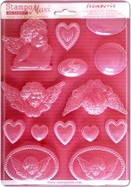 3D Форма - Ангели и сърца - Размери 21 x 29.7 cm