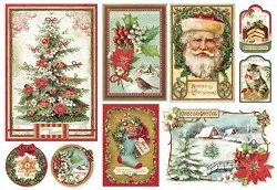 Декупажна хартия - Коледа - Размер 35 х 50 cm