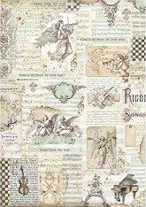 Декупажна хартия - Ангели и надписи
