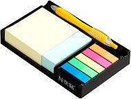 Самозалепващи листчета и индекси - Комплект от 525 броя в черна поставка