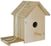 Направи и декорирай сам - Дървена къща за птици - творчески комплект