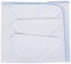 Памучна пелена - Комплект с 3 броя кърпички -