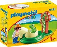 """Изследователка и яйце на динозавър - Мини фигури от серията """"Playmobil: 1.2.3"""" - играчка"""