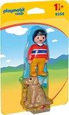 """Човек с куче - Мини фигури от серията """"Playmobil: 1.2.3"""" - играчка"""
