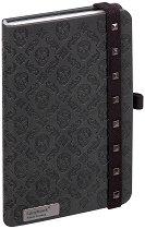 Lanybook: Луксозен джобен бележник с ластик - Формат A6 -