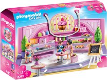 "Сладкарница - Детски конструктор от серията ""Playmobil: City Life"" - играчка"