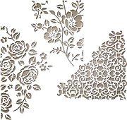 Щанци за машина за изрязване и релеф - Флорални текстури - Комплект от 3 броя с размери от 7.3 до 9.5 cm