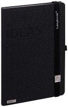 Lanybook: Луксозен бележник с ластик - 18 x 25 cm -