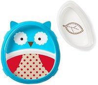 """Купичка и чиния за хранене - Бухалчето Отис - За бебета над 6 месеца от серията """"Zoo"""" -"""