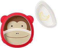 """Купичка и чиния за хранене - Маймунката Маршъл - За бебета над 6 месеца от серията """"Zoo"""" -"""