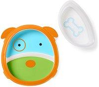 """Купичка и чиния за хранене - Кученцето Дарби - За бебета над 6 месеца от серията """"Zoo"""" -"""