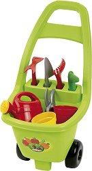 Детска градинарска количка с инструменти - играчка