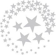Щанци за машина за изрязване и релеф - Звезди - Комплект от 5 броя с размери от 1.9 до 12.4 cm