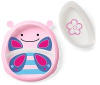 """Купичка и чиния за хранене - Пеперудата Блосъм - За бебета над 6 месеца от серията """"Zoo"""" -"""