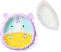 """Купичка и чиния за хранене - Еднорогът Юрика - За бебета над 6 месеца от серията """"Zoo"""" -"""