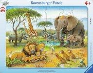 Африкански животни - пъзел
