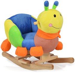 Детска дървена люлка - Caterpillar - С музикални ефекти -