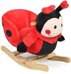 Детска дървена люлка - Калинка - С музикални ефекти -
