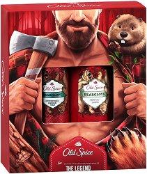 """Old Spice Lumberjack Bearglove - Подаръчен комплект за мъже от серията """"Bearglove"""" - ролон"""