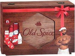 Old Spice Whitewater - Подаръчен комплект за мъже в луксозна дървена кутия - гел