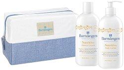 Подаръчен комплект с несесер - Barnangen Nutritive - Душ крем и лосион за тяло - крем