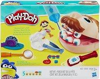 Зъболекар - Комплект за игра с моделин - топка