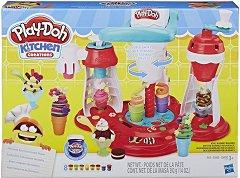 """Машина за сладолед - Творчески комплект с моделин от серията """"Play-Doh: Kitchen"""" -"""