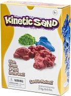 Кинетичен пясък - Творчески комплект от 3 цвята -