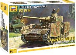 Германски танк - Panzer  IV Ausf. H - Сглобяем модел - макет