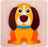 Куче - Дървен пъзел - пъзел