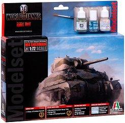 """Американски танк - M4 Sherman - Сглобяем модел от серията """"World of Tanks: Roll Out"""" - комплект с лепило и боички -"""