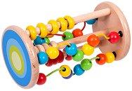 Лабиринт - Цилиндър с мъниста - Дървена образователна играчка -