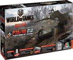 """Италиански танк - P26/40 - Сглобяем модел от серията """"World of Tanks: Roll Out"""" - макет"""