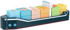 Товарен кораб - Дървена играчка за нанизване -