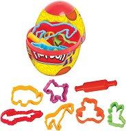 Моделин - Комплект от 2 цвята и формички в яйце