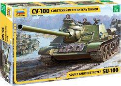 Съветско самоходно оръдие - СУ-100 - Сглобяем модел -