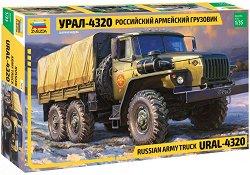 Съветски военен камион - Урал-4320 - Сглобяем модел -