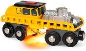 """Машина за ремонт на релси - Играчка със светлинен ефект от серията """"Brio: Вагончета"""" - творчески комплект"""