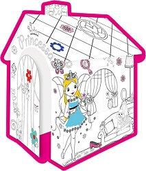 Детска къщичка - Принцеса - Картонен модел за оцветяване - играчка