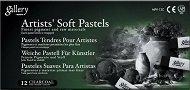"""Черни сухи пастели - Artists' Soft Pastels - Комплект от 12 броя от серията """"Gallery"""""""