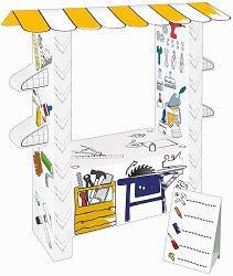 Работилница - Картонен модел за оцветяване - играчка