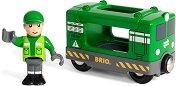 """Товарен двигател с шофьор - Дървени играчки от серията """"Brio: Вагончета"""" -"""