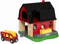 """Умна ферма - Дървена играчка със звуков ефект от серията """"Brio: Аксесоари"""" - играчка"""