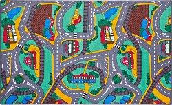 Килимче за игра - Град - Размери 67 x 100 cm -